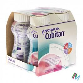 Cubitan Aardbei 4X200 drnk