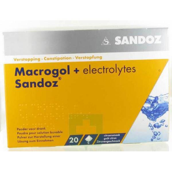 Macrogol/Elektrolyten 13,7G Ciroen Sandoz 20 zakj ...  Macrogol