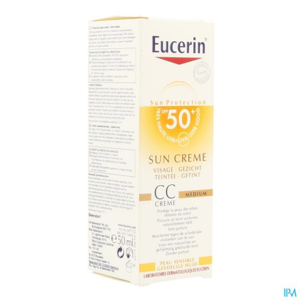 eucerin zon creme cc medium f50 50 creme zwitserse. Black Bedroom Furniture Sets. Home Design Ideas
