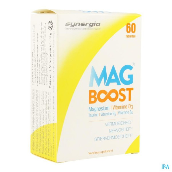 Synergia Mag Boost 60 Tabletten Zwitserse Apotheek Ordering