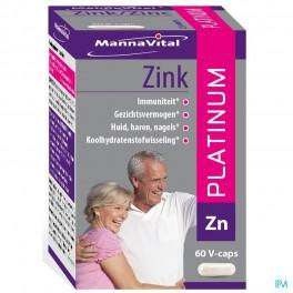 Mannavital Zink Platinum V Caps 60