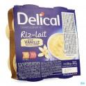 Delical Rijstpap Vanille 4X200 gram