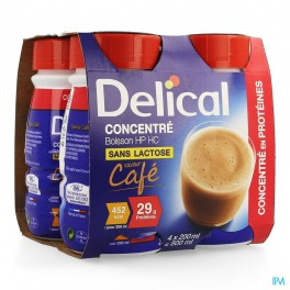 Delical Geconcentr Koffie 4X200 drank